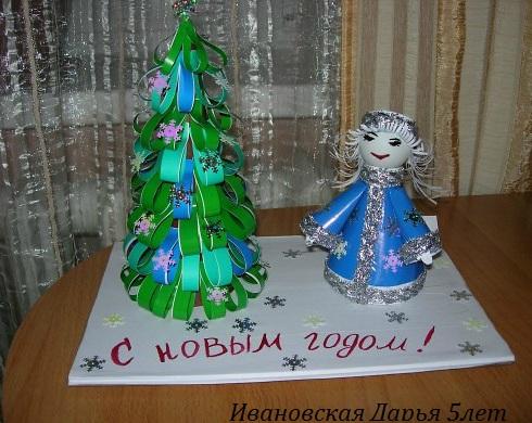 Новогодняя подделка в детский сад своими руками