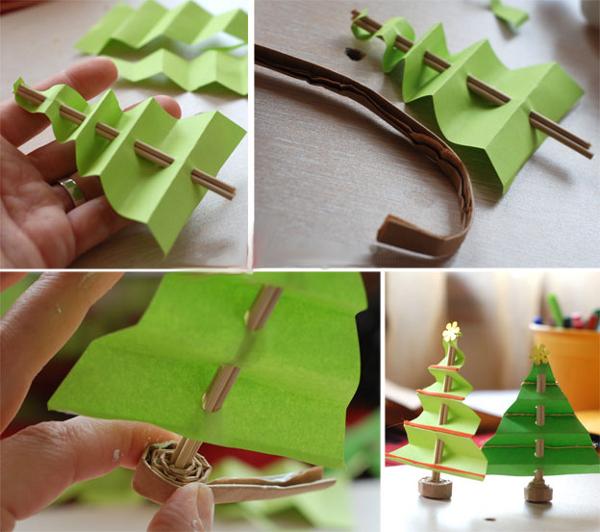 Новогодние игрушки из бумаги своими руками легко