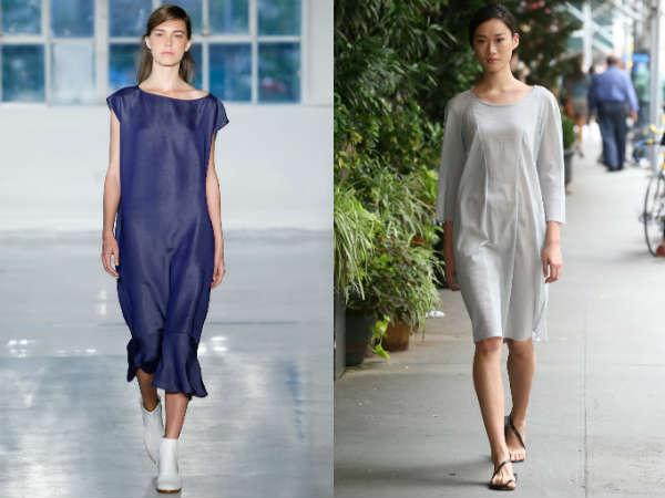 Модные платья мешок