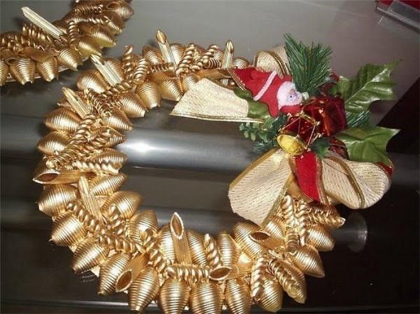 Игрушки на новый год из макарон своими руками