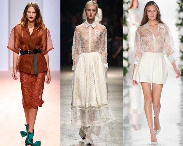 Модные блузки лето 2015