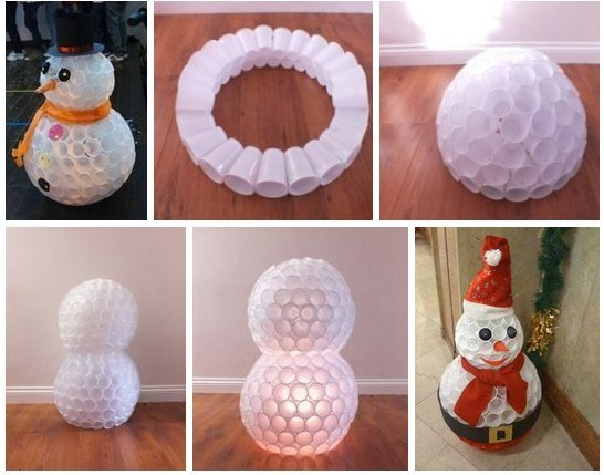 Снеговик из стаканчиков своими руками пошаговое фото 69
